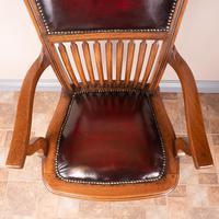Teak Revolving Office Desk Chair (15 of 17)