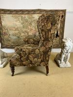 19th Century Two Seat Wingback Settee (4 of 8)