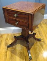 Plum Pudding Mahogany Ladies Work Table c.1830 (2 of 6)