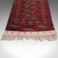 Antique Near Pair, Bokhara Rugs, Turkoman, Tekke, Carpet, Wall Covering, C.1910 (7 of 12)