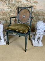 Fabulous Set of 6 Green Painted Armchairs (9 of 12)
