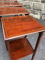 Edwardian  Inlaid Mahogany Nest 4 Tables (10 of 12)