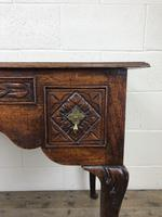 Antique 19th Century Carved Oak Lowboy Side Table (13 of 17)