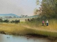 Lovely 'Chocolate Box Quality' Vintage 20thc English Landscape Oil Painting (6 of 15)
