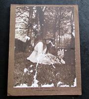 Original 1917 Cottingley Fairies Photograph of Elsie Wright Iris & The Gnome