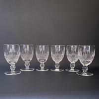 Six Waterford 'Colleen' Crystal White Wine Glasses