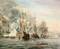Battle of Trafalgar Marine Seascape Oil Painting (2 of 4)