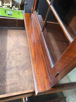 Antique Slim Figured Walnut Bookcase (7 of 12)
