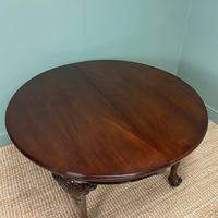 Edwardian Walnut Wind Out Extending Antique Dining Table (4 of 10)