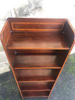 Edwardian Inlaid Mahogany Slim Open Bookcase (3 of 7)