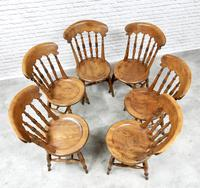 Set of 6 Penny Seat Windsor Kitchen / Dining Chairs (4 of 8)