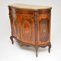 Antique French Marble Top Ormolu Mounted Cabinet (4 of 12)