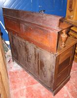 1920s Arts & Craft Style Carved Oak Sideboard with Back (6 of 9)