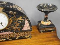 Art Deco Marble Clock Garniture (6 of 13)