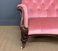 Large Victorian Carved Rosewood Settee (5 of 12)