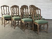 Set of 10 French Bleached Oak Farmhouse Dining Chairs (7 of 16)