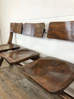 Antique Victorian Elm Four Seater Bench (M-717) (7 of 12)