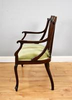 Victorian Mahogany & Inlaid Lounge Suite (9 of 23)