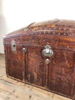 Large Leather Bound Dome Top Trunk (10 of 15)