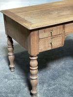 French Bleached Oak Writing Desk (10 of 21)