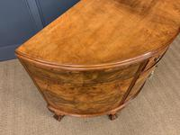 Burr Walnut Queen Anne Style Demi Lune Commode (8 of 11)