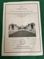 South Wales Border Private William Scott Medals & Death Plaque (5 of 10)