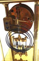 Fine  Antique French Table Regulator with Compensating Pendulum 8 Day 4 Glass Mantel Clock (10 of 11)
