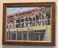 Newlyn Fish Market Oil Painting by Marjorie Mort (1906-1988) (2 of 5)