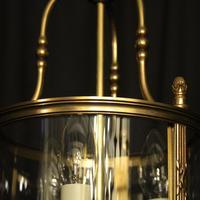 French Gilded Bronze Triple Light Convex Lantern (8 of 10)