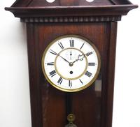 Antique German Single Weight Walnut 8-Day Vienna Regulator Wall Clock (6 of 10)