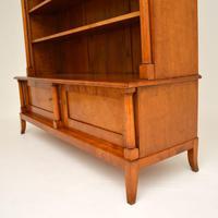 Antique Swedish Biedermeier Satin Birch Bookcase (8 of 12)