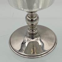 Modern Sterling Silver Suite Eight Wine Goblets Birmingham 1973 Barker Ellis Silver & Co (7 of 8)