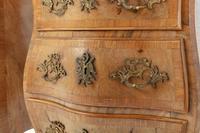 Pair of 19th Century Italian Walnut Bombe Bedside Cabinets (5 of 6)