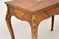 Antique Victorian Marquetry Top Console Table (4 of 12)