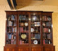 George 3 mahogany breakfront bookcase library circa 1800 (4 of 9)