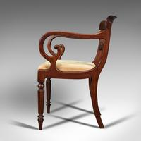 Antique Elbow Chair, English, Mahogany, Carver, Drop-in Seat, Regency c.1820 (5 of 12)
