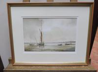 Watercolour evening by the river Denham Listed artist Alan Whitehead (6 of 10)