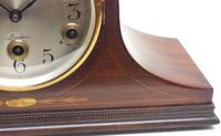 Mahogany Hat Shaped English Westminster 8-day Mantel Clock with Silver Dial (4 of 12)