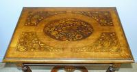 Good Dutch Marquetry Walnut & Kingwood Inlaid Table (4 of 11)