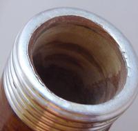 Victorian Gadget Walking Stick 1896 Silver Pommel Bamboo Shaft Hidden Bottle (6 of 12)