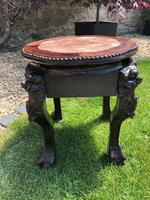 Chinese Hongmu Jardinière or Side Table with Marble Inset, Antique (7 of 16)
