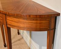 Demi Lune Console Table Sheraton Revival Sunburst Design (4 of 6)