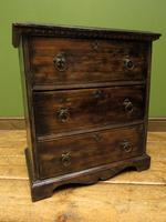 Antique Small Rustic Black Chest of Drawers (14 of 15)