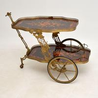 Vintage Italian Brass & Marquetry Drinks Trolley (2 of 14)