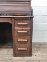 Antique Early 20th Century Oak Roll Top Desk (11 of 13)