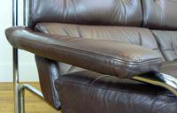 Pieff Alpha 3 Seater Chestnut Brown Leather Sofa (4 of 10)