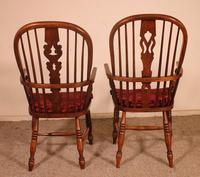 Near Pair of English Windsor Armchairs - 19th Century (3 of 11)