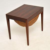 Danish Rosewood Vintage Sewing Table by Severin Hansen (10 of 12)