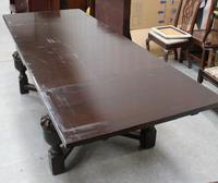 1940's Oak Bulbous Country Draw Leaf Table (4 of 4)
