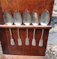 18th Century Oak Spoon Rack & Spoons (9 of 9)